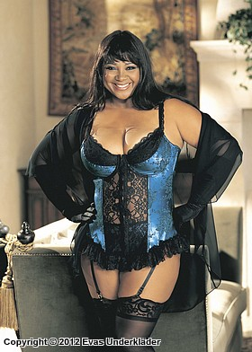 Broderad bustier, plus size, 2